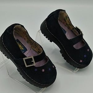 OshKosh B'gosh Navy Blue Leather Mary Jane sz 5